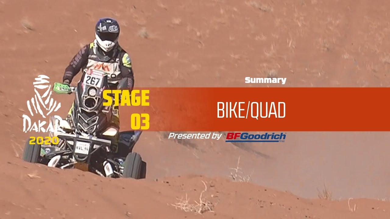 Dakar 2020 – Stage 3 (Neom / Neom) – Bike/Quad Summary