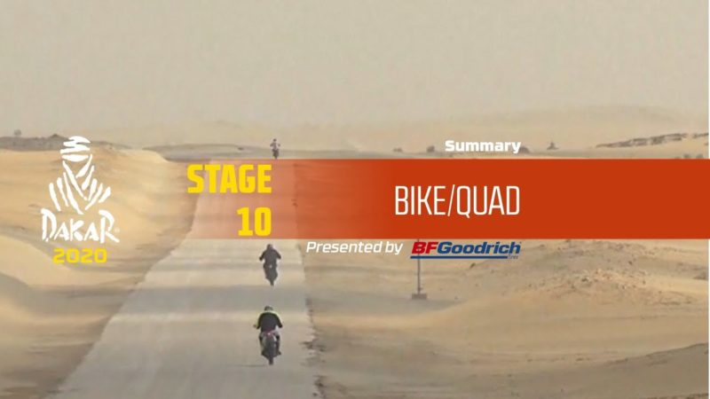Dakar 2020 – Stage 10 (Haradh / Shubaytah) – Bike/Quad Summary