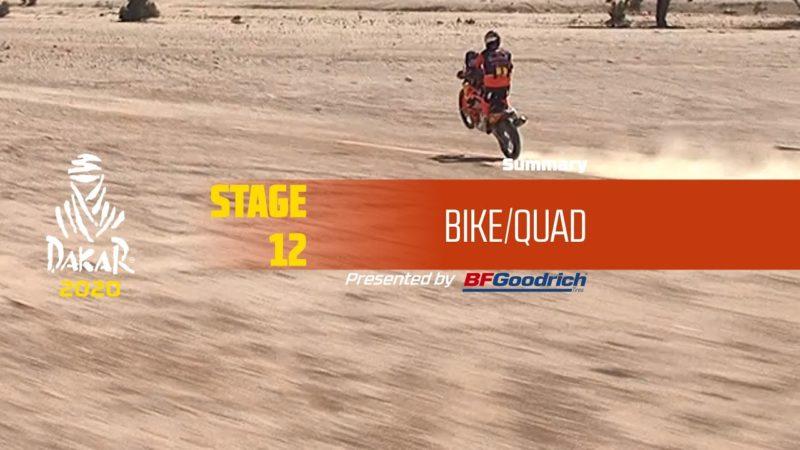 Dakar 2020 – Stage 12 (Haradh / Qiddiya) – Bike/Quad Summary