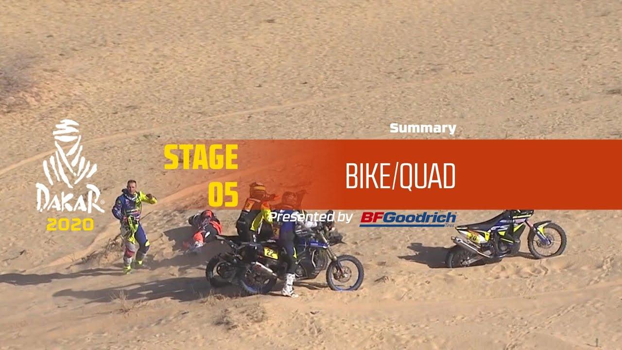 Dakar 2020 – Stage 5 (Al Ula / Ha'il) – Bike/Quad Summary