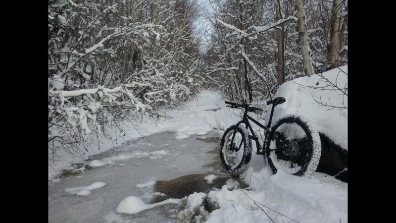 Winter Mountain Biking. Surly Pugsley Necromancer. Fat Bike Snow Bike. Gopro Hero2.