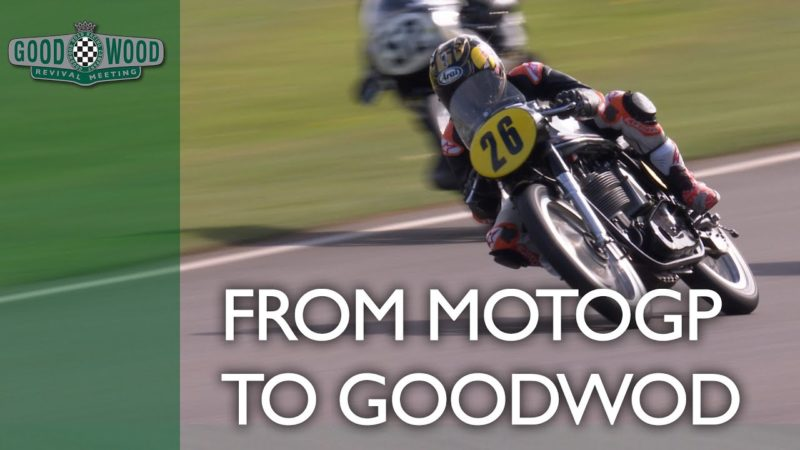 MotoGP star Dani Pedrosa makes Goodwood debut on 52-year-old bike