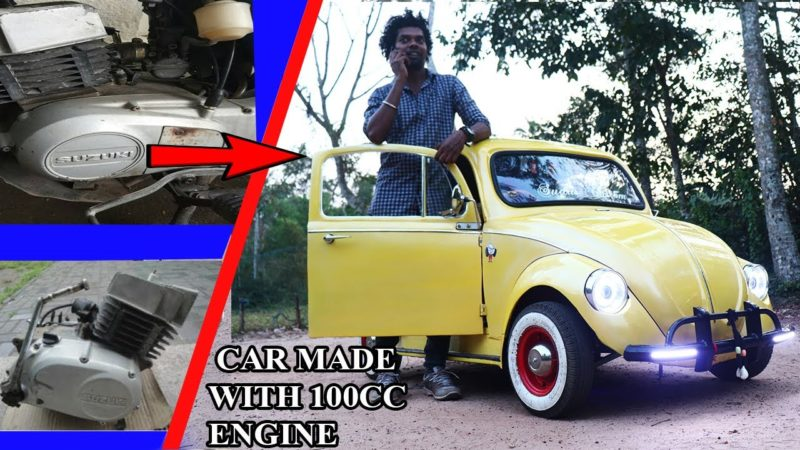 how to make Beetle  Car  With 100 cc Bike Engine/home made car /sudus custom