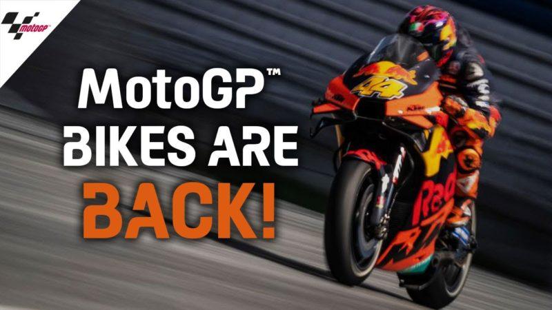 MotoGP™ bikes are back on track! 😍