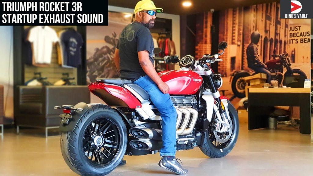 Triumph Rocket 3r Startup Exhaust Sound 4k India Bikes Dinos Swiss Cycles