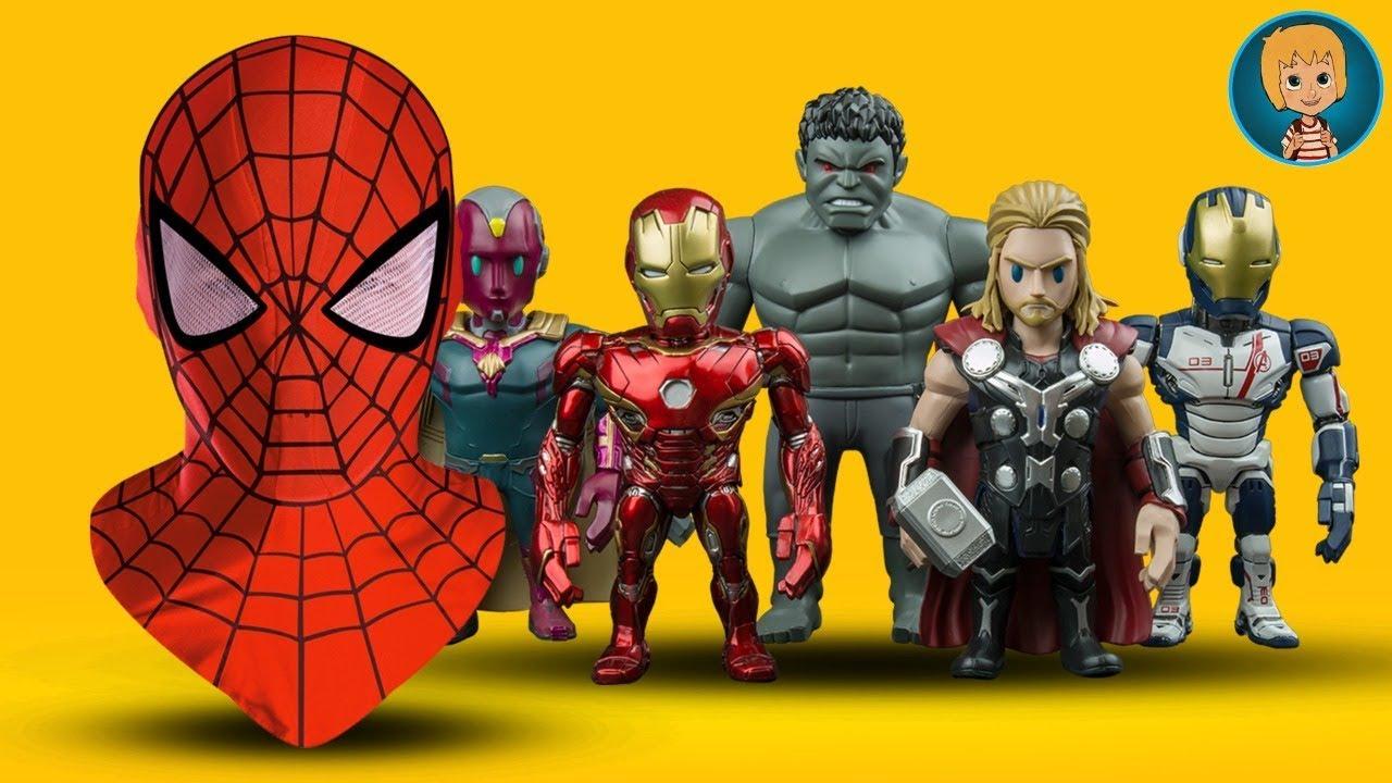 SpiderMan Mask – Iron Man + Avengers Kids Shopping (Gertit ToysReview)