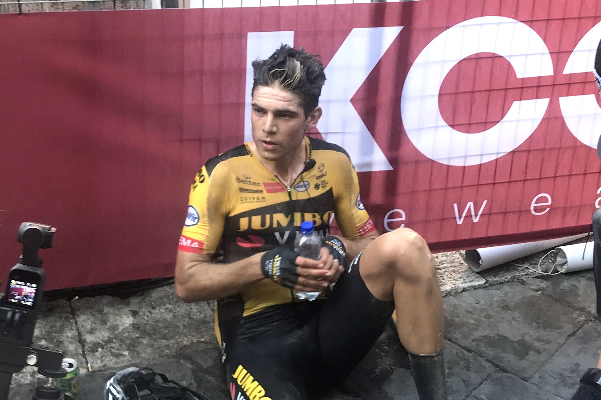 'It's survival of the fittest': Wout van Aert marks anniversary of leaving hospital after Tour injury with Strade Bianche title