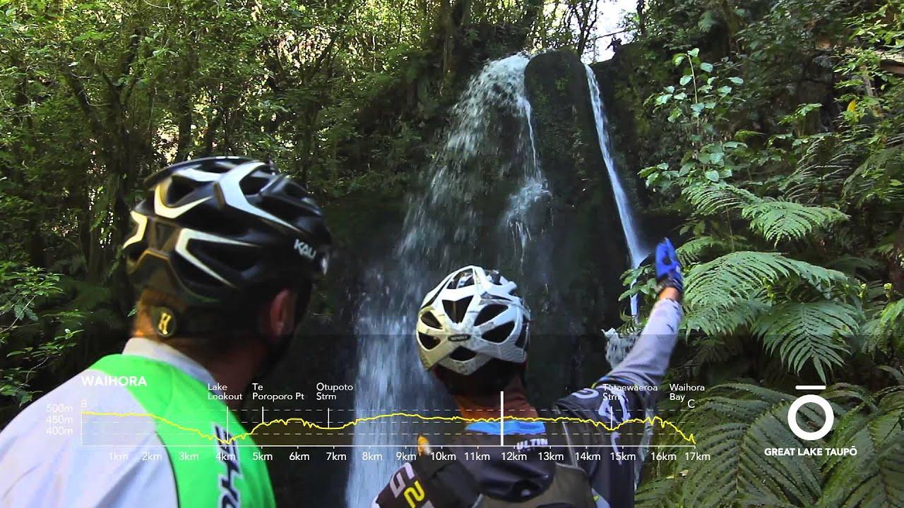 Waihora (Great Lake Trail) Mountain Bike Trail Guide Video, Great Lake Taupo, New Zealand