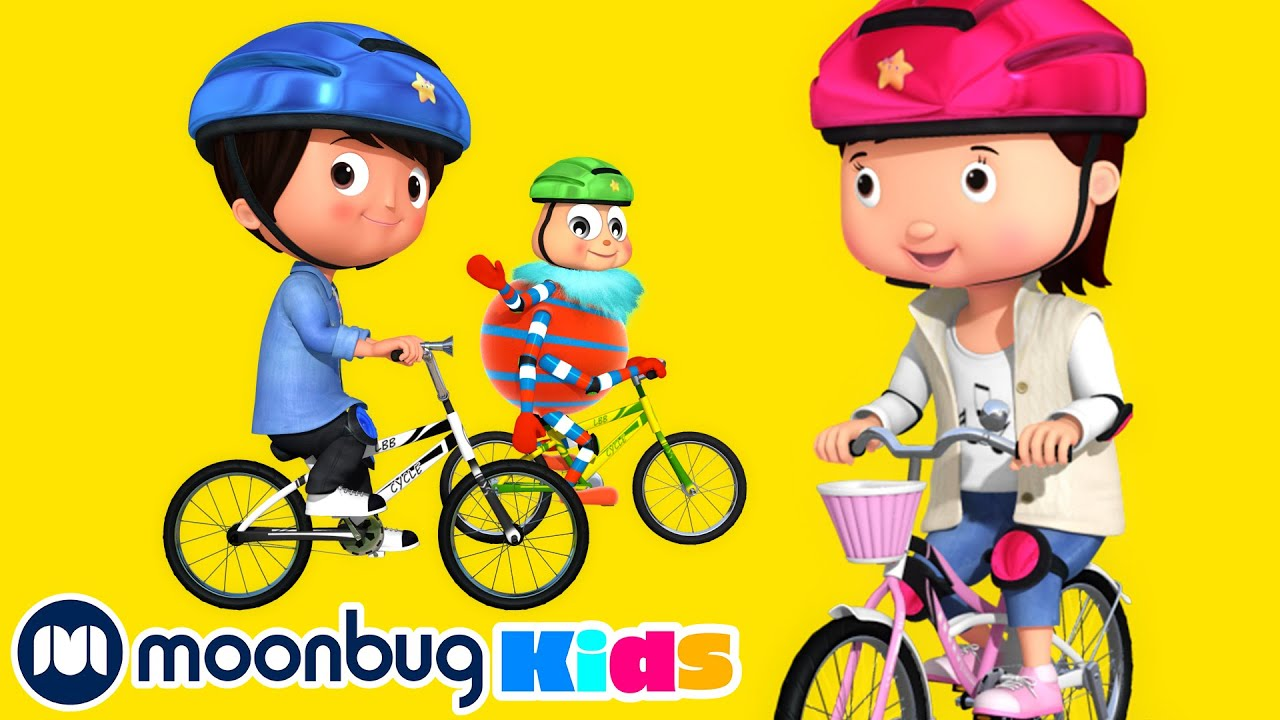 Riding A Bike Song | LBB Songs | Learn with Little Baby Bum Nursery Rhymes – Moonbug Kids