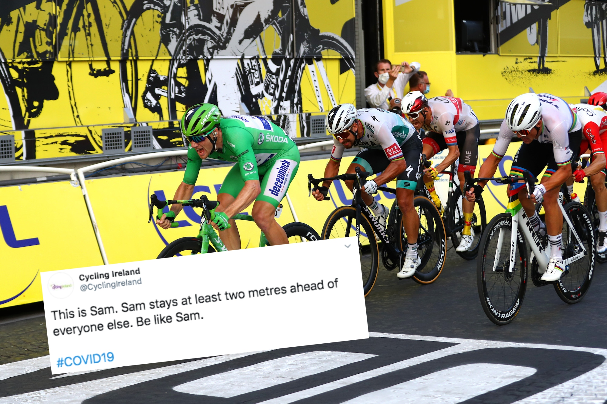 Tweets of the Week: Social distance with Sam Bennett, Alice Jackson's tribute, and how does the Tour de France work?