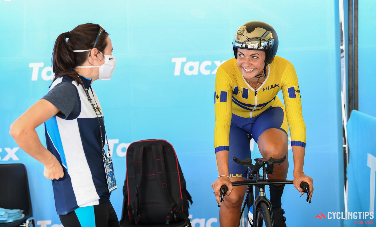 Le sourire radieux d'une recrue aux championnats du monde
