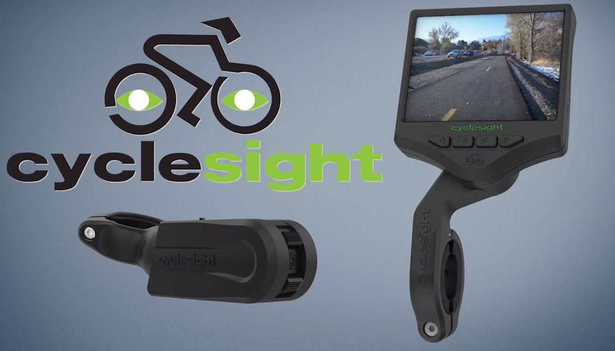 La cámara de visión trasera Cyclesight vigila tu espalda … con una pantalla enorme en la parte delantera