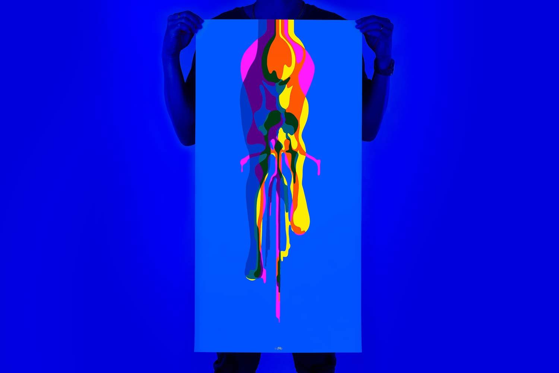 Le contre-la-montre 100Copies Glide Glory Glow brille de couleur soustractive, de jour comme de nuit