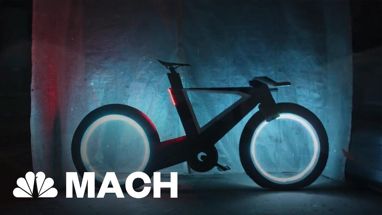 The Futuristic Cyclotron Bike Has Airless And Spokeless Wheels | Mach | NBC News
