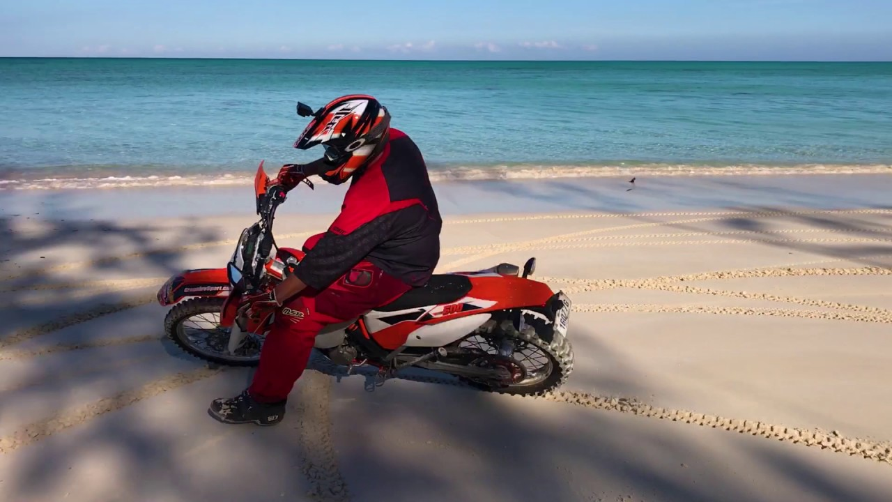 Taking dirt bikes to Andros in the Bahamas