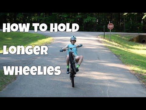 How to wheelie a mountain bike for a long time