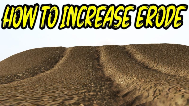How to Increase Ground deformation / Erode on Mx Bikes