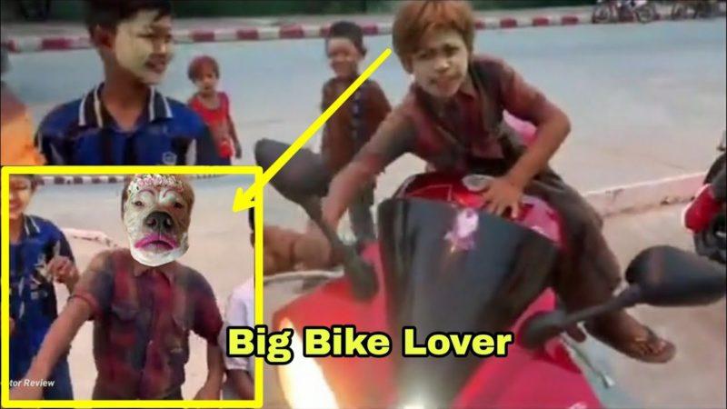 Children love Big Bike. Funny video