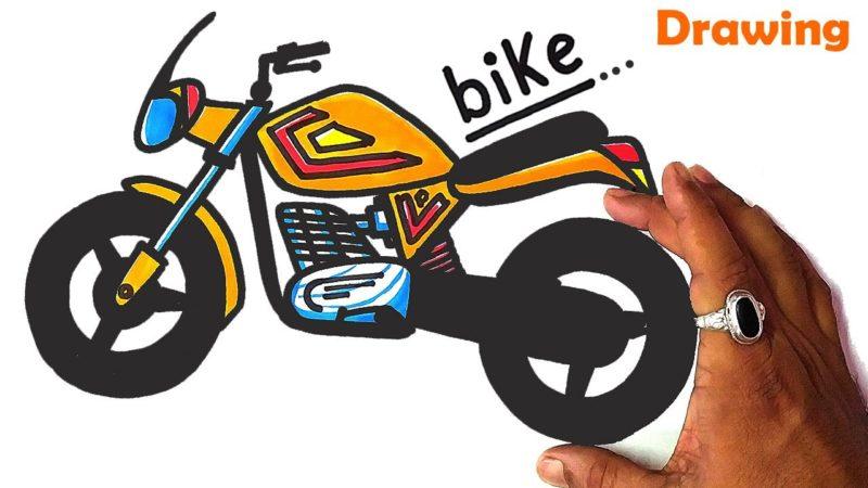 How To Turn 'bike' Word into Super Sport BIKE Drawing | Very Easy & Perfect BIKE Drawing.