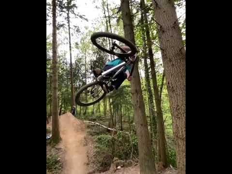 Mountain Bike jump redirect midair