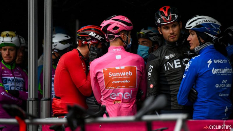 Stage 19 of the Giro d'Italia shortened after rider protest