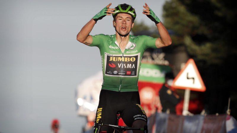 Roglic stürmt auf der achten Etappe der Vuelta a España zum Sieg