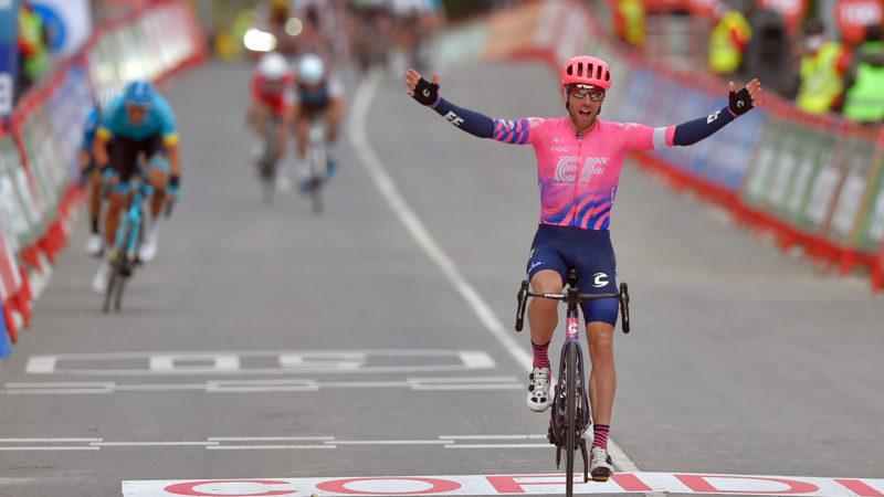 Michael Woods lance une attaque tardive pour gagner en solo de l'échappée de la septième étape de la Vuelta a España 2020