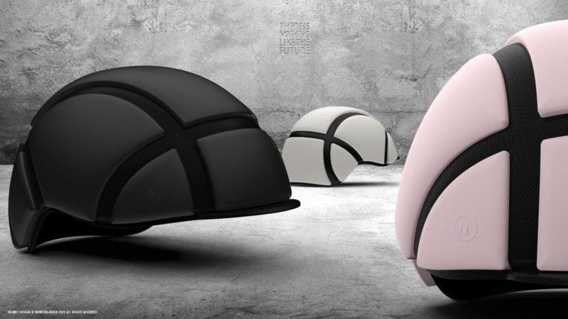 """El """"casco de bicicleta más delgado del mundo"""" maneja impactos repetidos, se pliega en su riñonera"""