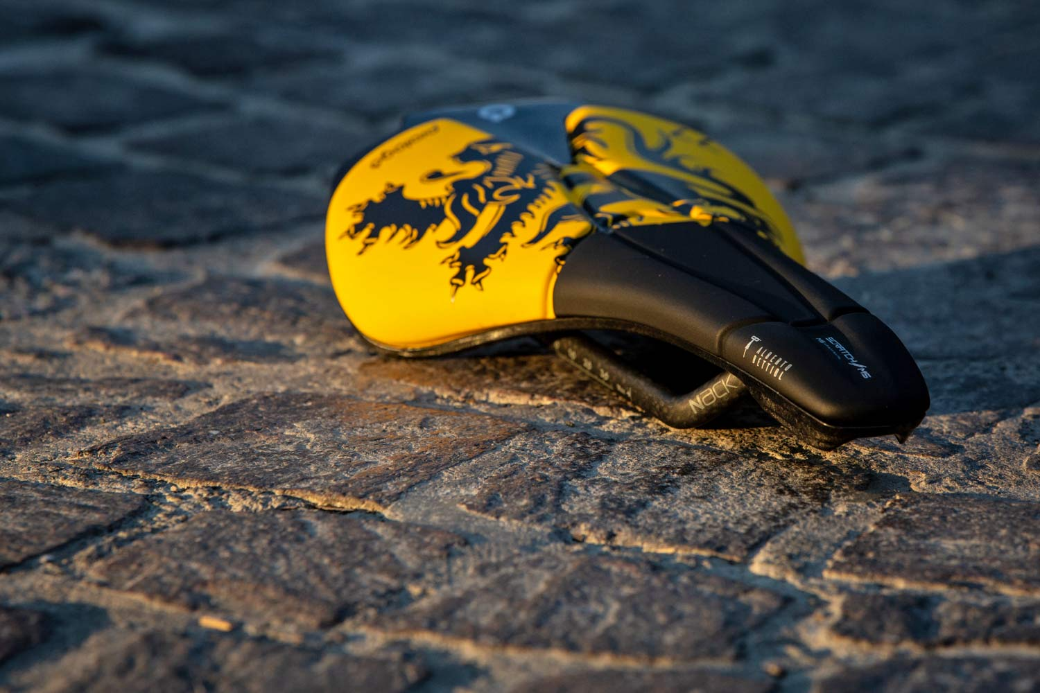 Get ready for Spring Classics in Fall, on limited edition Prologo Lion of Flanders saddle
