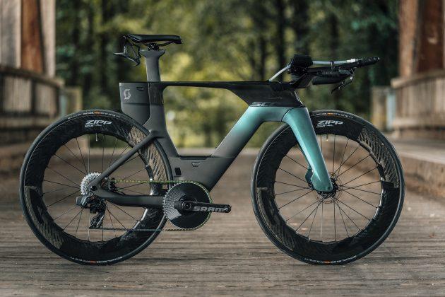 Scott Plasma Redesign: Das einstellbare Hinterrad bietet mehrere Reifenbreiten