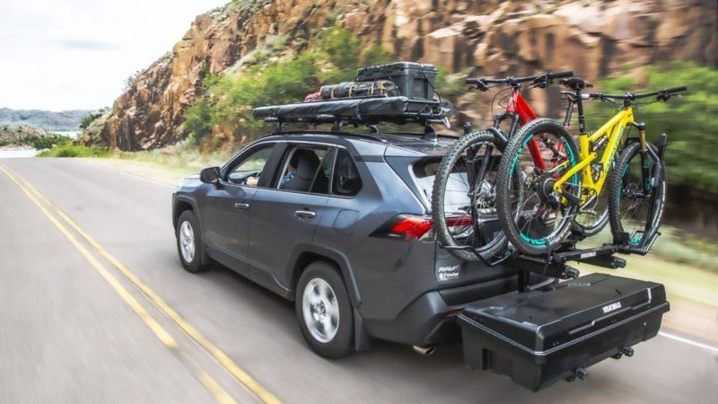Yakima EXO doubles up on hitch cargo options with new swing-away stacked system