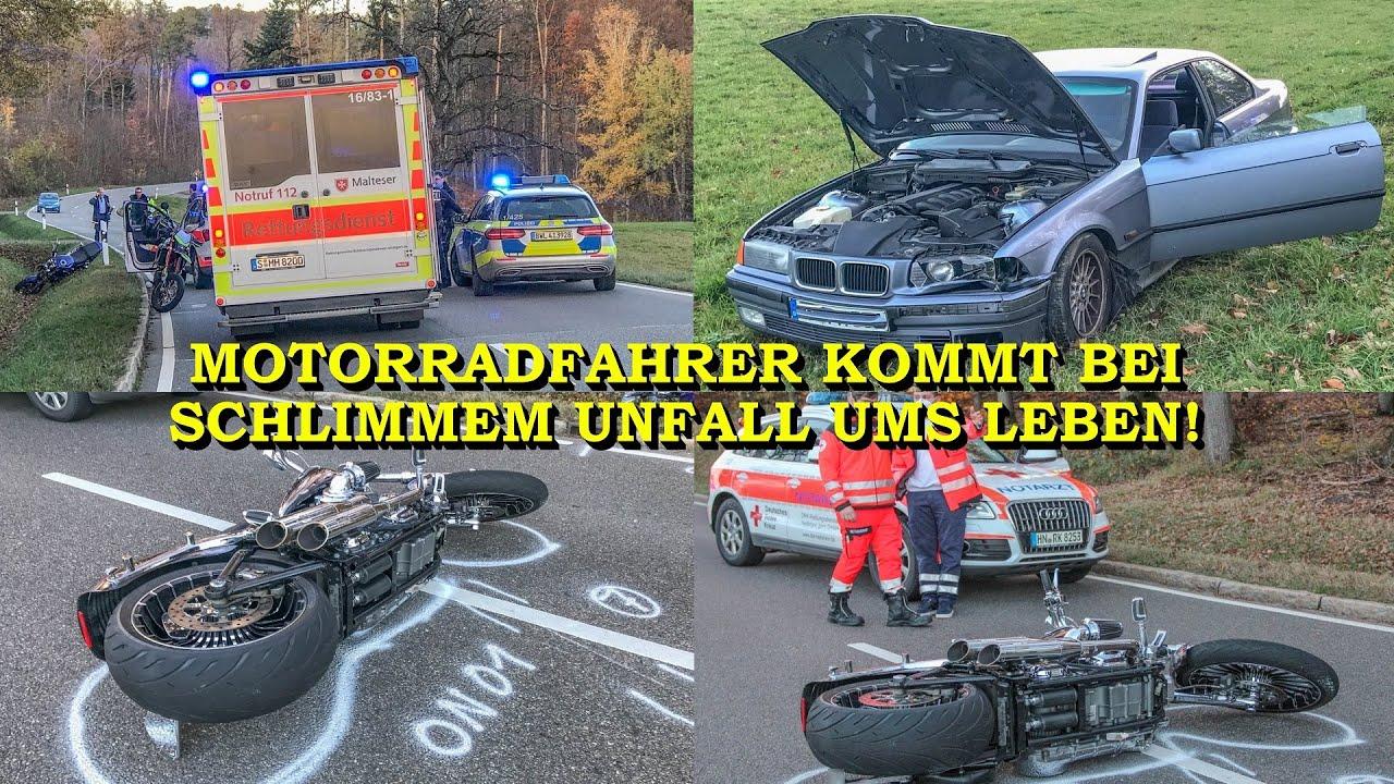 ++ TÖDLICHER UNFALL: BIKER STÜRZT & WIRD VON BMW ERFASST ++ NOTARZT & POLIZEI IM EINSATZ | BLAULICHT