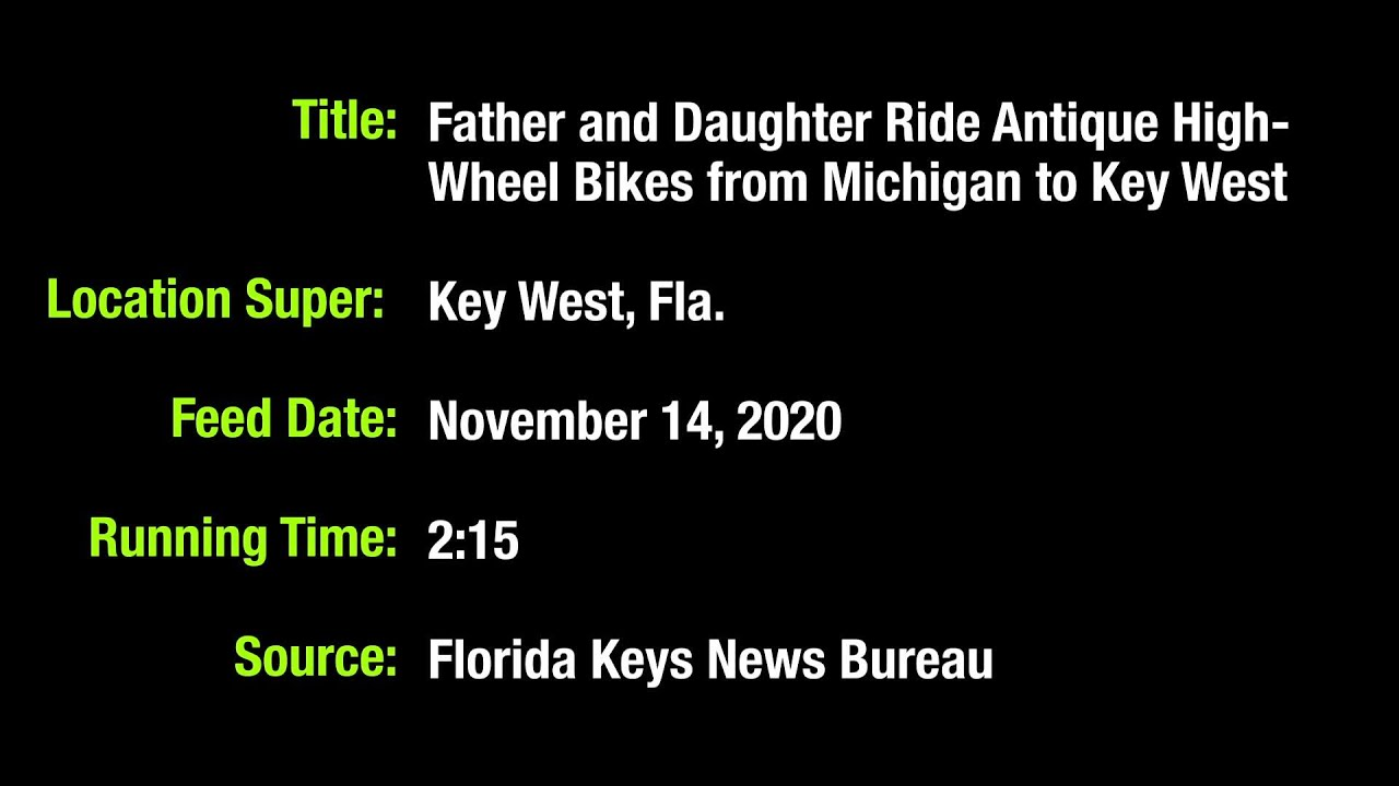 WEB EXTRA: Daughter, Dad Pedal Antique Bikes From Michigan To Key West