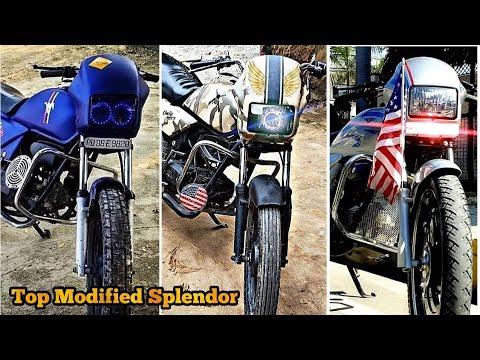 Top new Splendor plus bike modified in Punjab || deep creation