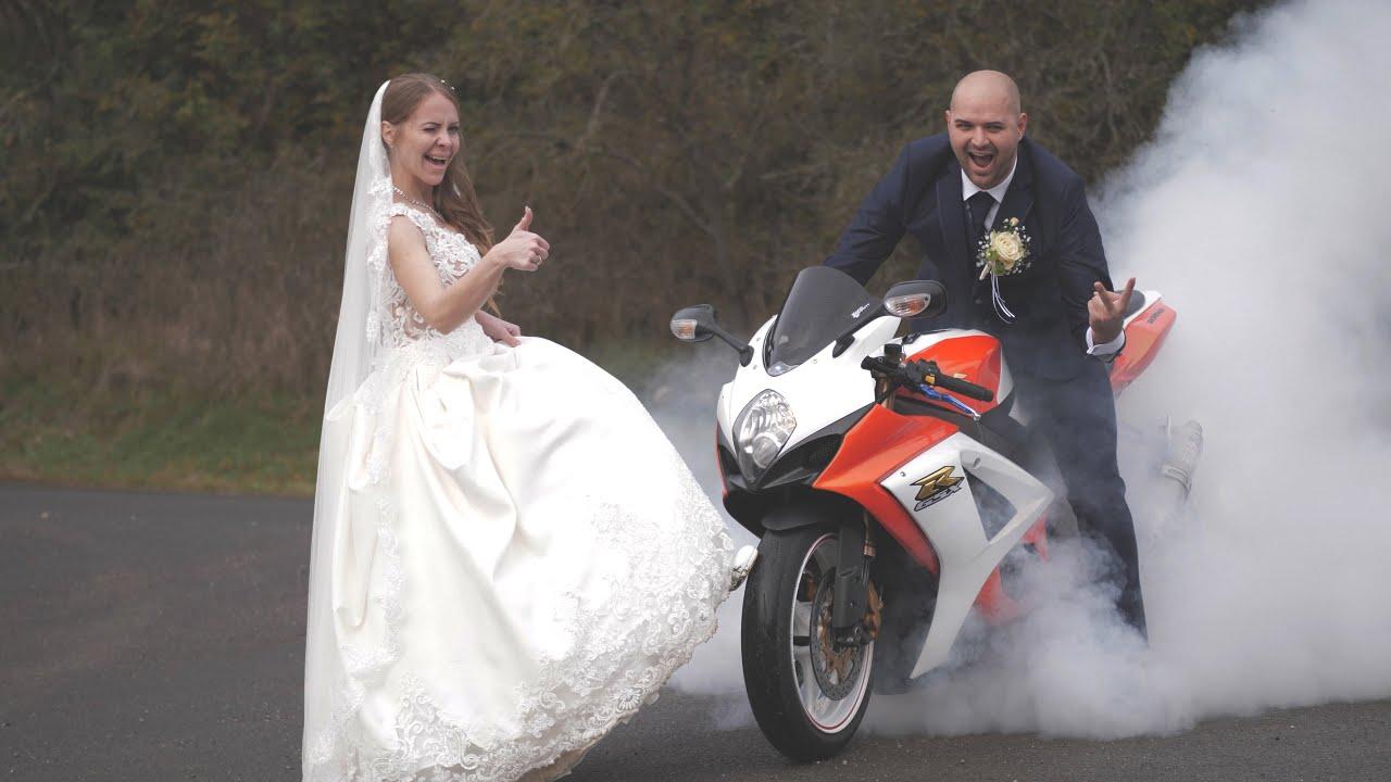 Veronika & Norbert   BIKER's WEDDING HIGHLIGHTS    4K   2020  