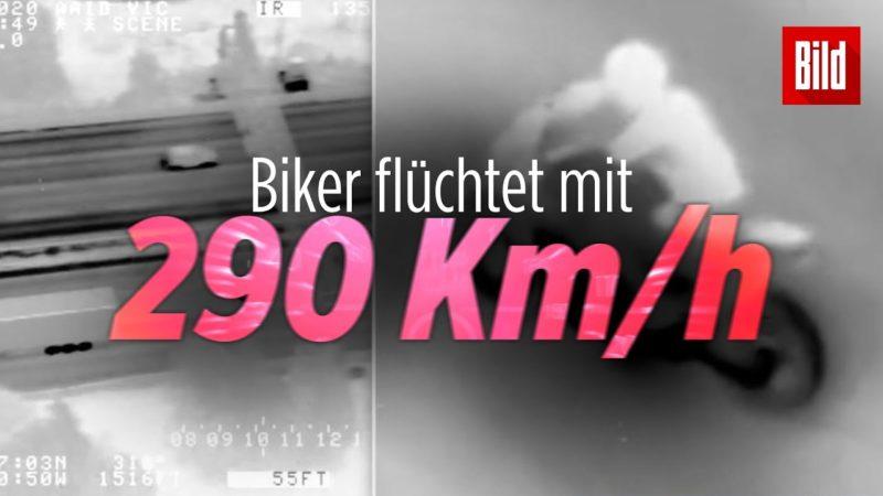 Heftiges Raser-Video: 19-jähriger Biker jagt mit 290 Km/h der Polizei davon