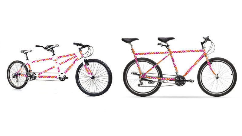 Dunkin' Donuts backpedals on bizarre bike geo, adds new $500 tandem bicycle mockup