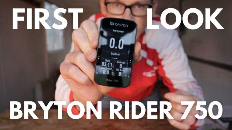 First Look: Bryton Rider 750 Bike GPS