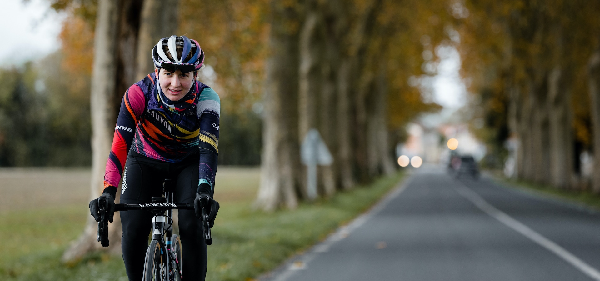 Her race was cancelled at the last minute, so she rode 1,000 km home