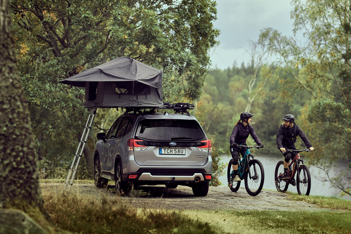 Thule Tepui Foothill rooftop tent halves the footprint with a slim 2-person design