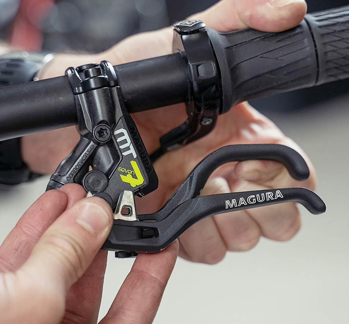 Ga voor custom met Magura MT HC Wide Reach-hendel voor grote handen, rotors met centrale vergrendeling en meer!