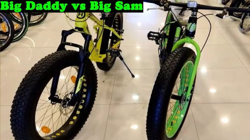 #TricksWorks | Hero sprint BigDaddy vs Unirox Big Sam | Fat Bike |Big daddy | Fat Bike Comparison