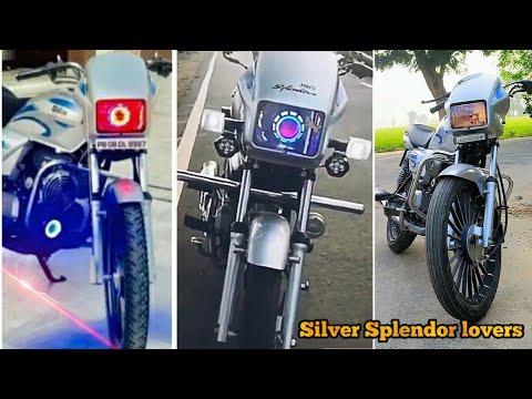 Modified silver splendor plus bike || splendor modified || deep creation