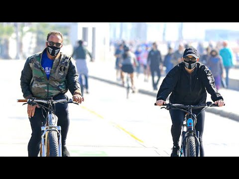 Arnold Schwarzenegger And Heather Milligan Enjoy A Thanksgiving Day Bike Ride