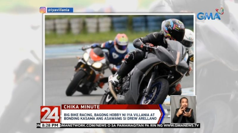 24 Oras: Big bike racing, bagong hobby ni Iya Villania at bonding kasama si Drew Arellano