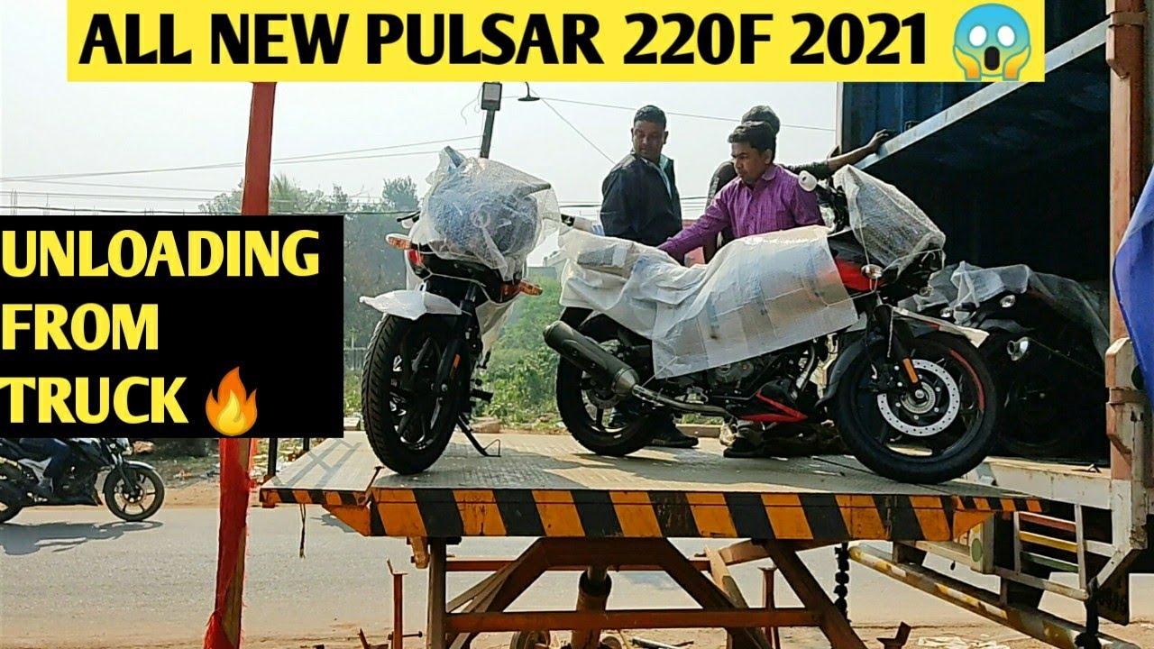 All New 2021 BAJAJ Pulsar 220F BS6 Unloading 😍❤️ || How Bikes Unloading On Road 🤯 || 220f BS6 🔥