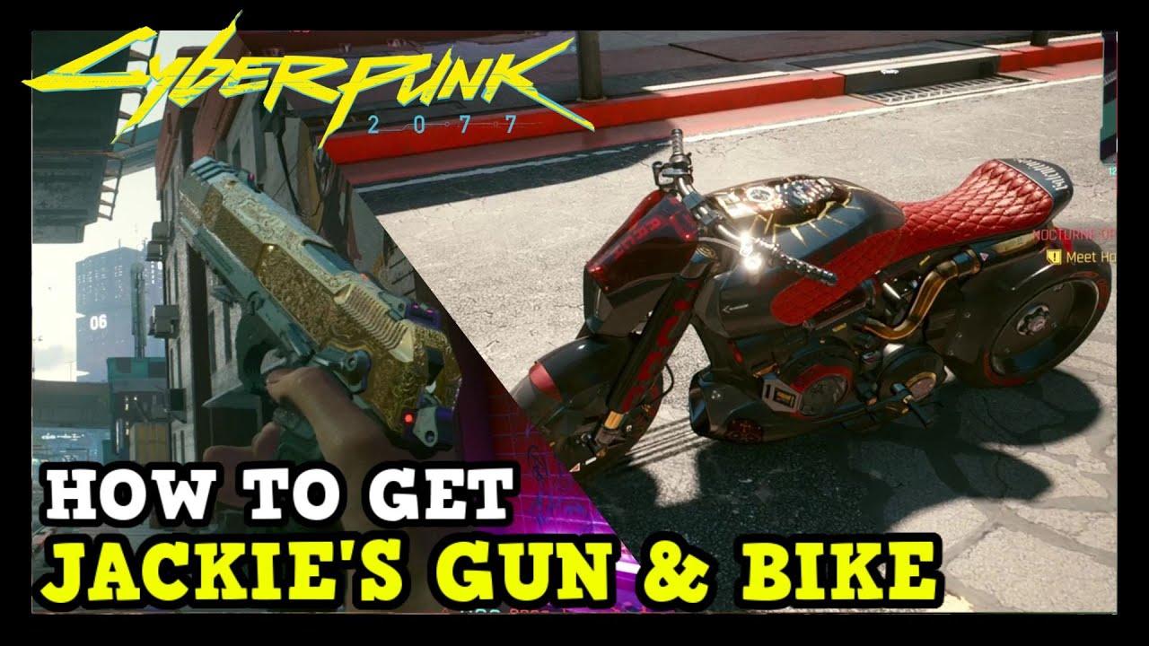How to get Jackie's Gun and Bike in Cyberpunk 2077 (Jackie's Arch & La Chingona Dorada)
