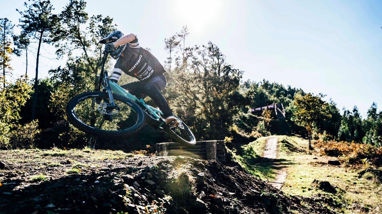 George Brannigan's testing the new Propain Downhill bike