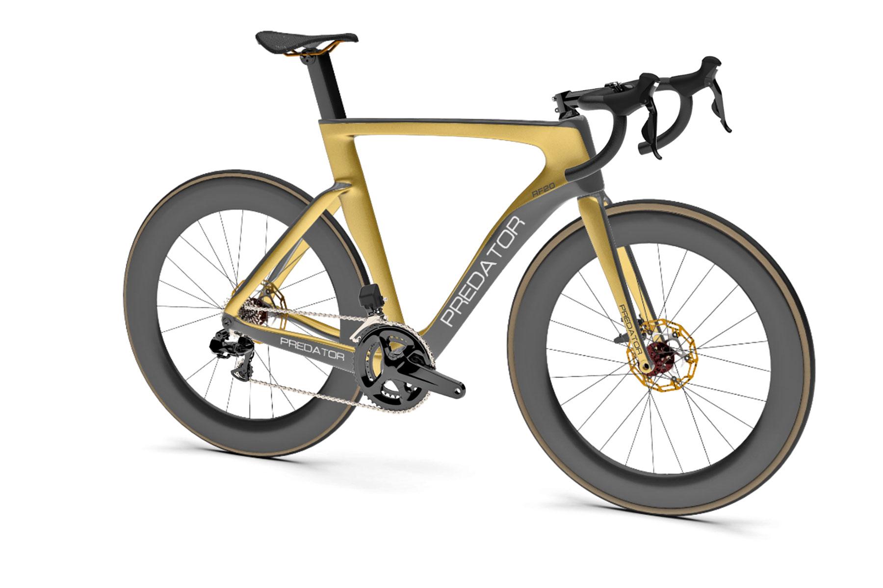Trouvé: Le vélo de route aérodynamique Predator RF20 génère du carbone personnalisé, fabriqué aux États-Unis