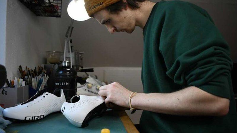 Custom sko designer får et uventet løft efter Tour de France vinder Sir Bradley Wiggins trækker sit sæt